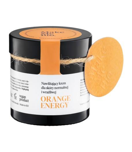 Orange energy - Nawilżający krem dla skóry normalnej i wrażliwej Make Me Bio 60 ml