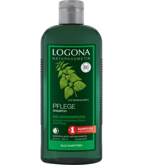 Pielęgnujący szampon z bio-pokrzywą - Logona 250 ml
