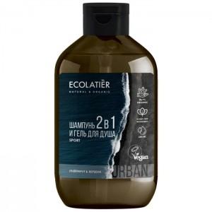 SPORT Szampon i żel pod prysznic 2w1 dla mężczyzn - Ecolatier 600 ml