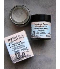 Dezodorant w kremie bez Sody Węgiel i Bergamotka - Brooklyn Groove 30 ml