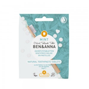 Naturalne tabletki do mycia zębów Z FLUOREM - BEN&ANNA 36g