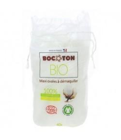 Płatki kosmetyczne owalne z bawełny ekologicznej - 40 szt. Bocoton