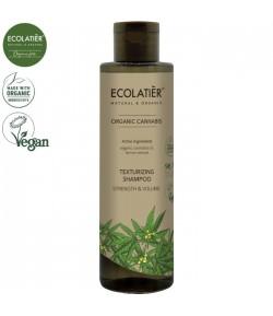Teksturuzujący szampon z olejem konopnym Moc i Objętość - ECOLATIER 250 ml
