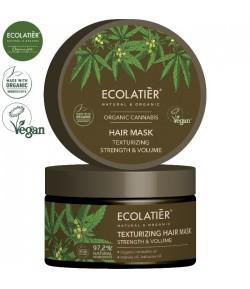 Teksturuzująca maska do włosów z olejem konopnym Moc i Objętość - ECOLATIER 250 ml