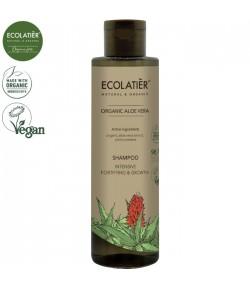 Wzmacniający szampon stymulujący wzrost włosów z aloesem - ECOLATIER 250 ml