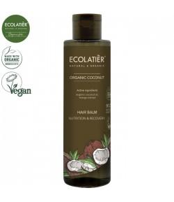 Balsam do włosów z organicznym kokosem Odżywienie i Odnowa - ECOLATIER 250 ml