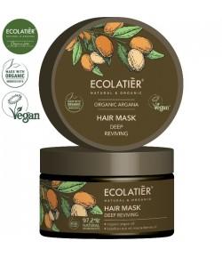 Maska do włosów głęboko odżywiająca z organicznym olejem arganowym - ECOLATIER 250 ml