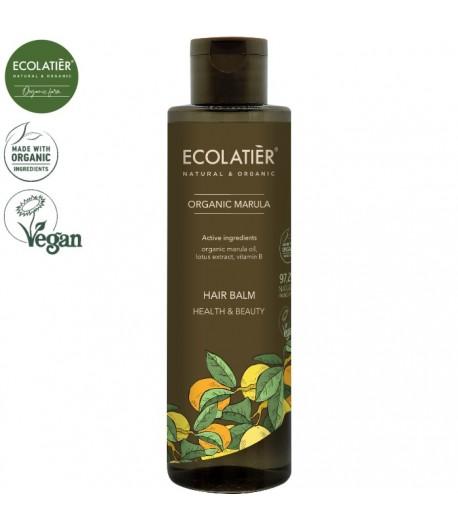 Balsam do włosów Zdrowie i Piękno z organicznym olejem z maruli - ECOLATIER 250 ml