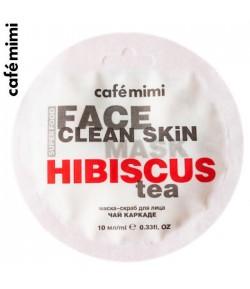 Maseczka-scrub do twarzy Hibiskus i Jaśmin - CAFE MIMI 10 ml