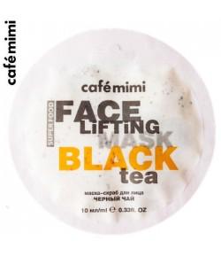 Maseczka-scrub do twarzy Czarna herbata i trawa cytrynowa - CAFE MIMI 10 ml