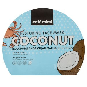 Maseczka do twarzy w płachcie Kokos - CAFE MIMI 22g