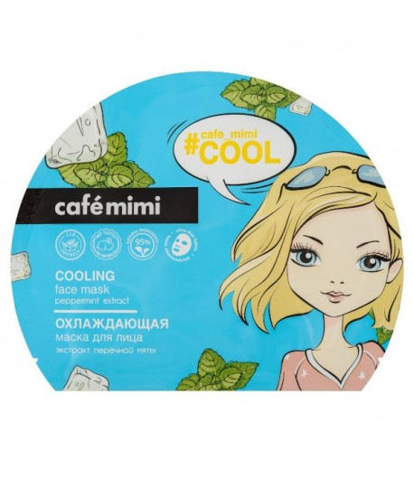 Chłodząca Maseczka do twarzy w płachcie - CAFE MIMI 22g