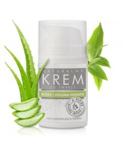 Kojąco - Relaksujący krem do twarzy z aloesem i zieloną herbatą - e-FIORE 50 ml