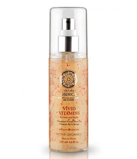 Spray do włosów i ciała - Aktywne witaminy - Natychmiastowe nawilżenie - Natura Siberica 125 ml