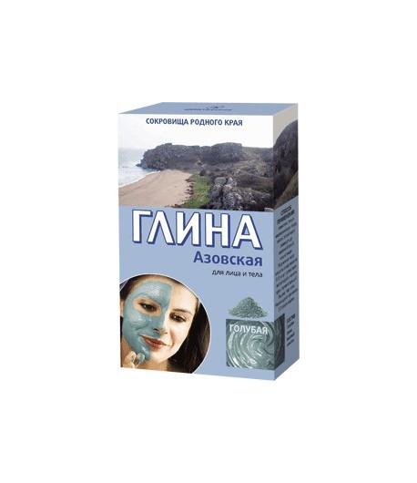 Azowska glinka kosmetyczna - błękitna - tonizująca - do twarzy i ciała - Fitokosmetik 2x50g