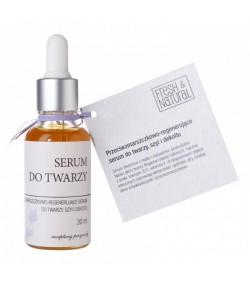Przeciwzmarszczkowo - regenerujące serum do twarzy, szyi i dekoltu - Fresh&Natural 30 ml